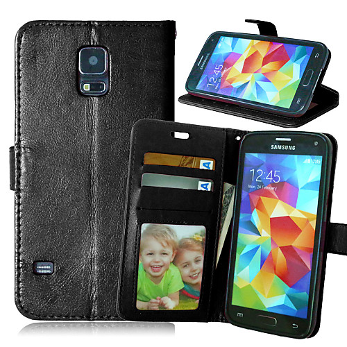 Кейс для Назначение SSamsung Galaxy Кейс для Samsung Galaxy Кошелек / Бумажник для карт / со стендом Чехол Однотонный Кожа PU для S6 edge plus / S6 edge / S6 фото