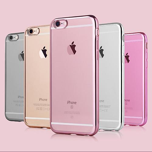 Кейс для Назначение Apple iPhone 6 iPhone 6 Plus Покрытие Кейс на заднюю панель Сплошной цвет Мягкий ТПУ для iPhone 6s Plus iPhone 6s фотонабор olloclip studio для apple iphone 6 6s plus black oc 0000169 eu