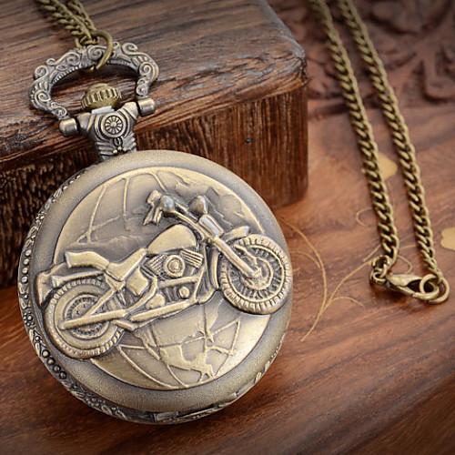 Men's Pocket Watch Japanese Quartz Bronze 30 m Casual Watch Analog Charm One Year Battery Life