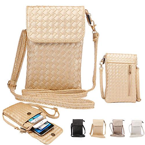 Кейс для Назначение iPhone 6s Plus / iPhone 6 Plus / iPhone 6s Кошелек Мешочек Однотонный Мягкий Кожа PU для