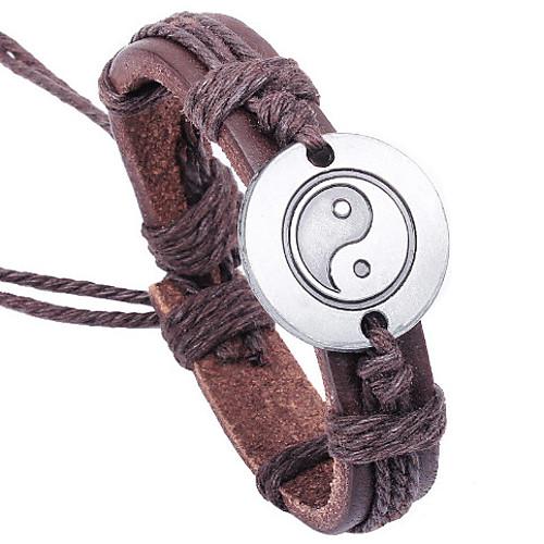 Ножной браслет / Кожаные браслеты / Браслет - Для вечеринки, Для офиса, На каждый день Браслеты Коричневый Назначение Подарок / Валентин
