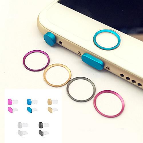 металл домашняя кнопка кольцо крышки защитник круг  разъем для наушников&порт зарядки Anti-Dust Разъем для iPhone установлен 6 /
