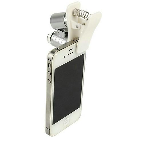 Купить со скидкой Микроскоп для мобильного телефона Микроскопы Лупы Веселье 60 раз Металл Классика Детские Мальчики Де