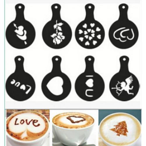 кофе новинка фантазии кофе гирлянды формы печати плесень 8шт