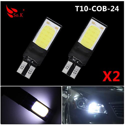 SO.K 2pcs T10 Автомобиль Лампы COB 200 lm 6 Лампа поворотного сигнала For Универсальный цена