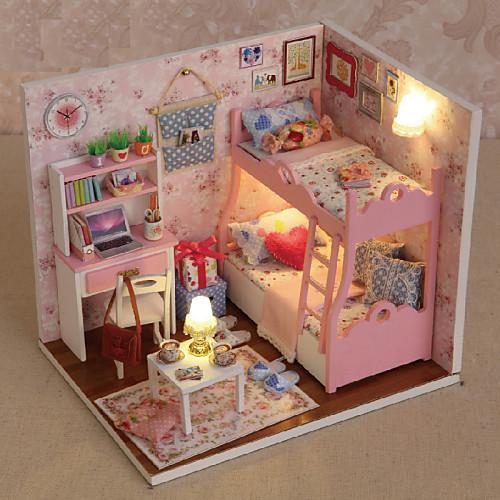 миниатюрный кукольный дом с мебелью дети дий мини кукольный дом модель принцесса комната дети игрушка рождество новый год рождения