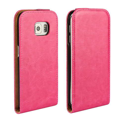 Кейс для Назначение SSamsung Galaxy Кейс для Samsung Galaxy Чехол Сплошной цвет Кожа PU для S6 edge S6 S5 Mini S5 S4 Mini S4 S3 Mini S3 S