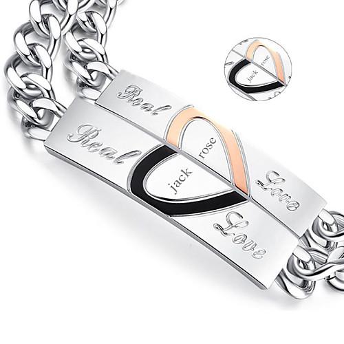 Персонализированные ювелирные изделия - Любовь - браслеты - Титановая сталь - золото / серебро -