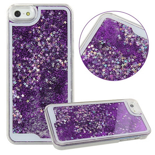 Case For iPhone 5 / Apple / iPhone X iPhone X / iPhone 8 Plus / iPhone 5 Case Flowing Liquid / Transparent Back Cover Glitter Shine Hard PC for iPhone X / iPhone 8 Plus / iPhone 8