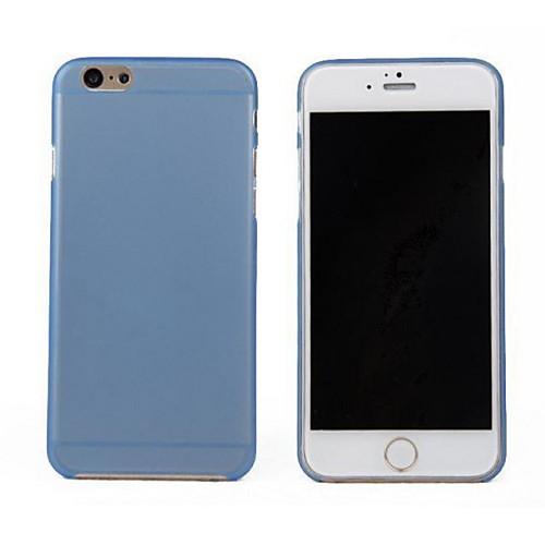 Кейс для Назначение Apple iPhone 6 iPhone 6 Plus Ультратонкий Прозрачный Кейс на заднюю панель Сплошной цвет Твердый ПК для iPhone 6s
