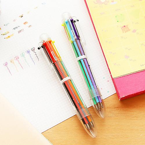 Ручка Ручка Шариковые ручки Ручка, пластик Красный Черный Синий Желтый Золотой Зеленый Цвета чернил For Школьные принадлежности Офисные
