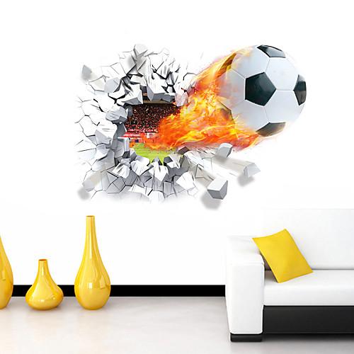 Романтика Мультипликация Спорт 3D Наклейки 3D наклейки Декоративные наклейки на стены, Винил Украшение дома Наклейка на стену Стена
