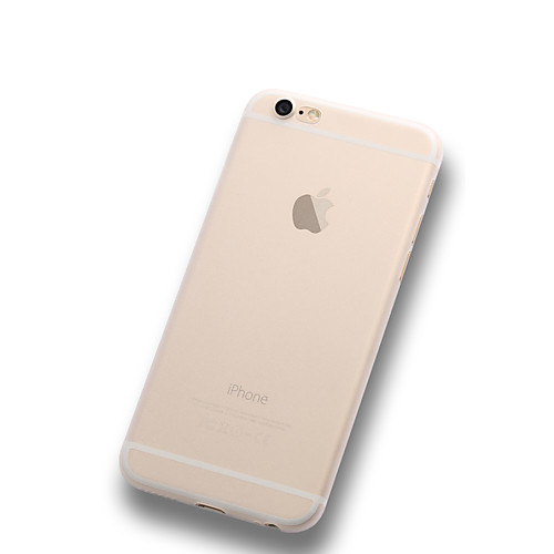 Кейс для Назначение Apple iPhone X iPhone 8 Plus iPhone 6 iPhone 6 Plus Ультратонкий Матовое Полупрозрачный Кейс на заднюю панель