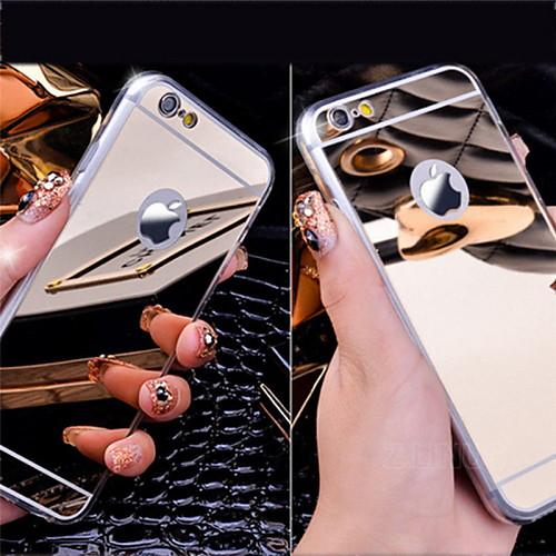 Кейс для Назначение Apple Кейс для iPhone 5 iPhone 6 iPhone 6 Plus Покрытие Зеркальная поверхность Кейс на заднюю панель Сплошной цвет