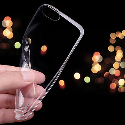 Кейс для Назначение Apple iPhone X iPhone 8 Кейс для iPhone 5 iPhone 6 iPhone 6 Plus iPhone 7 Plus iPhone 7 Ультратонкий Прозрачный Кейс