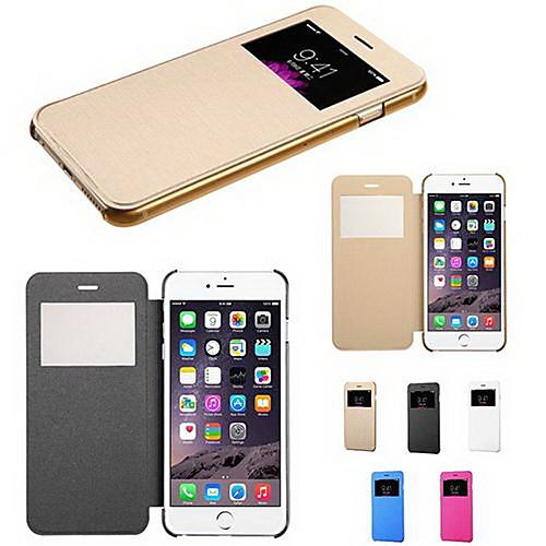 коснитесь вид флип обратно прозрачный полный случай тела для Iphone 6с 6 плюс