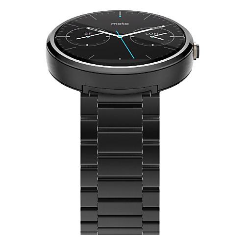 Ремешок для часов для Мото 360 Motorola Бабочка Пряжка Нержавеющая сталь Повязка на запястье