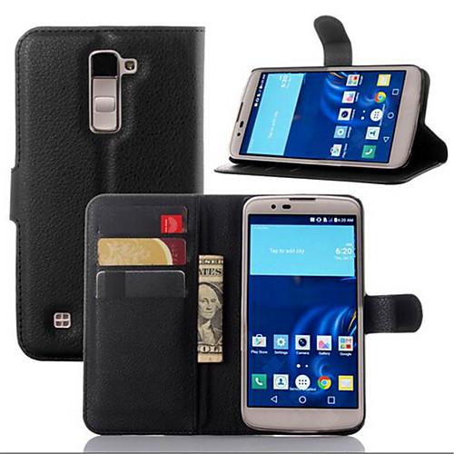 Кейс для Назначение LG G2 / LG G3 / Другое Кейс для LG Кошелек / Бумажник для карт / со стендом Чехол Однотонный Твердый Кожа PU для / LG G4 / LG K10 фото