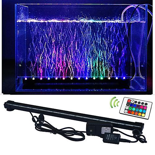 lm Светодиодные аквариум Свет 50 светодиоды SMD 5050 Водонепроницаемый Декоративная На пульте управления RGB AC 100-240 В