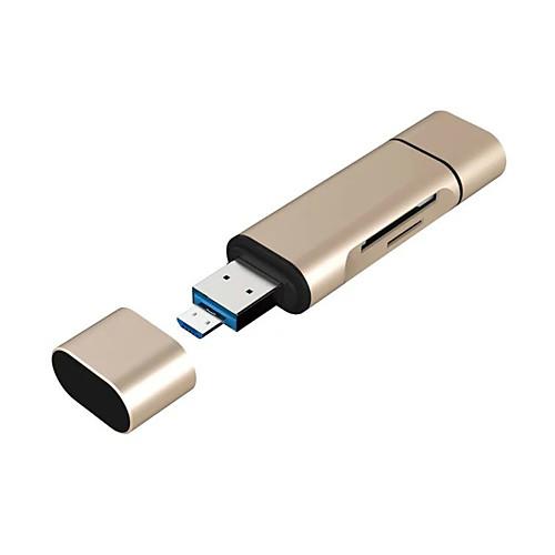 Читатель 3 в 1 USB-A / Micro USB / Тип-C порт TF / SD карты с OTG для нового MacBook, Android OTG телефону и более инфракрасный порт для android