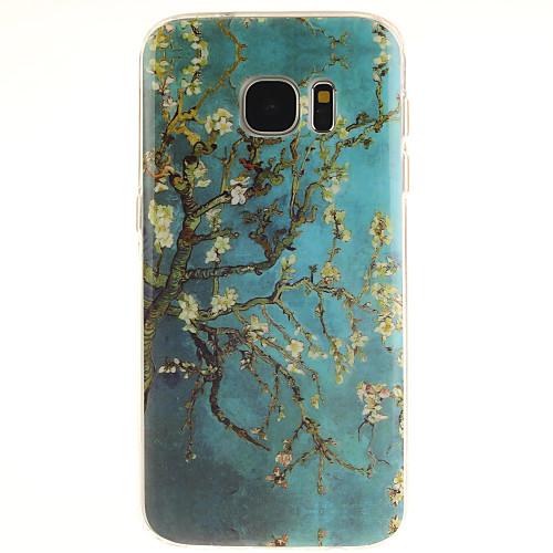 Кейс для Назначение SSamsung Galaxy Samsung Galaxy S7 Edge С узором Кейс на заднюю панель дерево ТПУ для S7 edge S7 S6 edge plus S6 edge