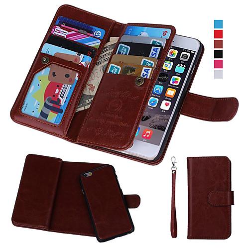 Кейс для Назначение Apple iPhone 8 iPhone 8 Plus Кейс для iPhone 5 iPhone 6 iPhone 6 Plus iPhone 7 Plus iPhone 7 Бумажник для карт