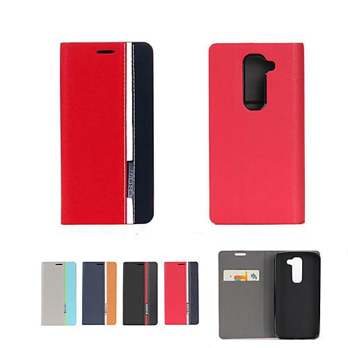 Кейс для Назначение LG G3 Mini LG G2 LG G3 LG L70 LG LG G4 Кейс для LG Бумажник для карт со стендом Флип Чехол Сплошной цвет Твердый Кожа пылесос с контейнером для пыли lg vc53001kntc