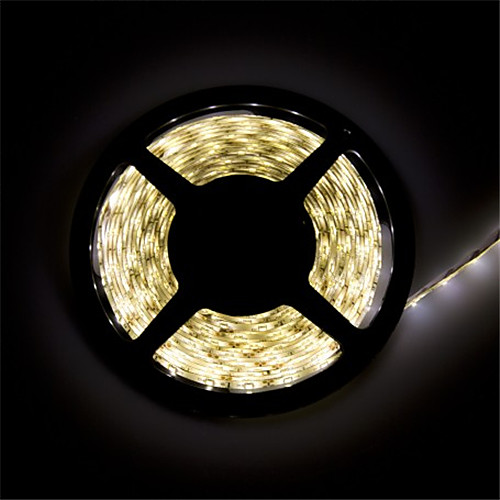 Гибкие светодиодные ленты 300 светодиоды Тёплый белый Белый Можно резать Водонепроницаемый Самоклеющиеся Компонуемый DC 12 В DC 12V