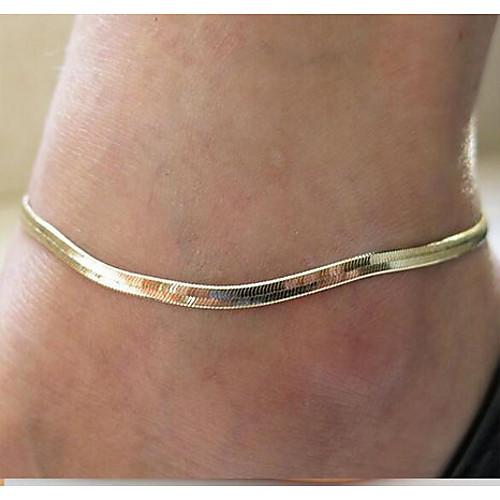 Ножной браслет - Жен. Серебряный / Золотой Мода Ножной браслет Назначение Повседневные