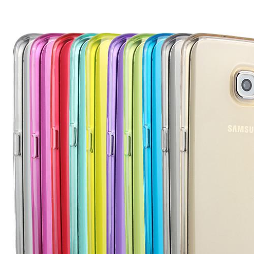 Кейс для Назначение SSamsung Galaxy Samsung Galaxy S7 Edge Прозрачный Кейс на заднюю панель Сплошной цвет ТПУ для S7 edge S7 кейс для назначение ssamsung galaxy кейс для samsung galaxy ультратонкий кейс на заднюю панель сплошной цвет мягкий тпу для s7 edge s7