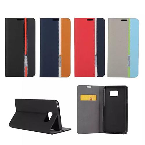 Кейс для Назначение SSamsung Galaxy Samsung Galaxy Note Бумажник для карт со стендом Флип Чехол Полосы / волосы Кожа PU для Note 5 Note 4 чехол для для мобильных телефонов rcd 4 samsung 4 for samsung galaxy note 4 iv