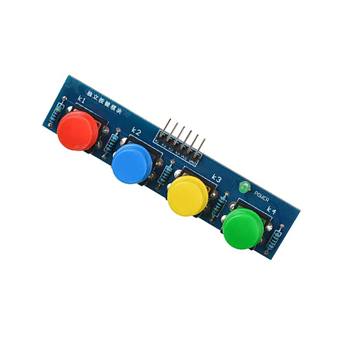 4 ключа Сенсорный модуль внешний модуль клавиатуры для Arduino  малина pi- синий