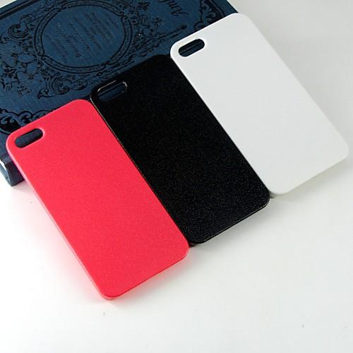Кейс для Назначение iPhone 5 / Apple Кейс для iPhone 5 С узором Кейс на заднюю панель Однотонный Твердый ПК для iPhone SE / 5s / iPhone 5