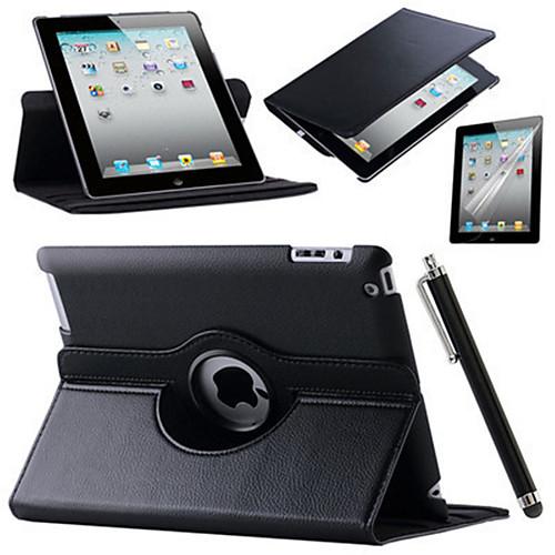 Кейс для Назначение Apple iPad Mini 3/2/1 iPad 4/3/2 iPad Air 2 iPad Air со стендом Оригами Поворот на 360° Чехол Сплошной цвет Твердый чехол для планшета for apple ipad air 2 ipad 6 360 apple ipad 2 ipad 6 ipa6 016