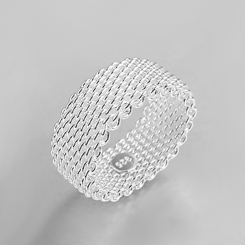 Жен. Серебрянное покрытие Кольцо - На заказ / Мода Серебряный Кольцо Назначение Для вечеринок