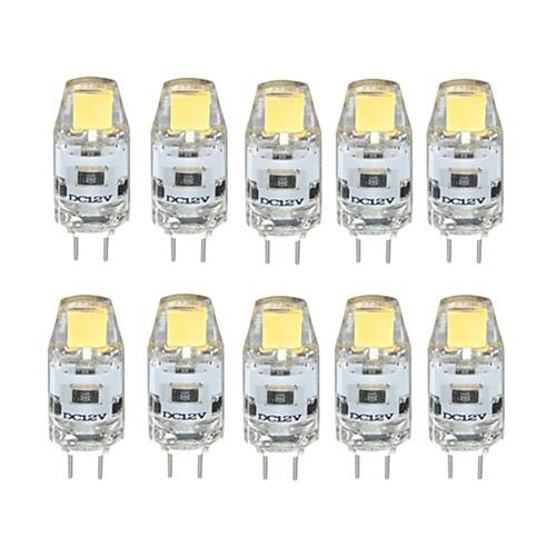10 шт. 1 W Двухштырьковые LED лампы 100 lm G4 T 1 Светодиодные бусины COB Диммируемая Тёплый белый Холодный белый 12 V / RoHs фото