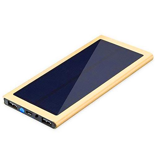 Назначение Внешняя батарея Power Bank 5 V Назначение 1 A / 2.1 A / # Назначение Зарядное устройство Несколько разъемов / Зарядка от солнца / Очень тонкий LED