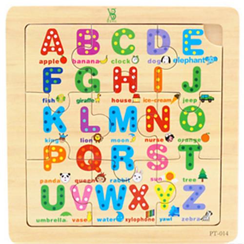 Пазлы Обучающая игрушка Игрушки Дерево Мультяшная тематика Куски Детские Подарок