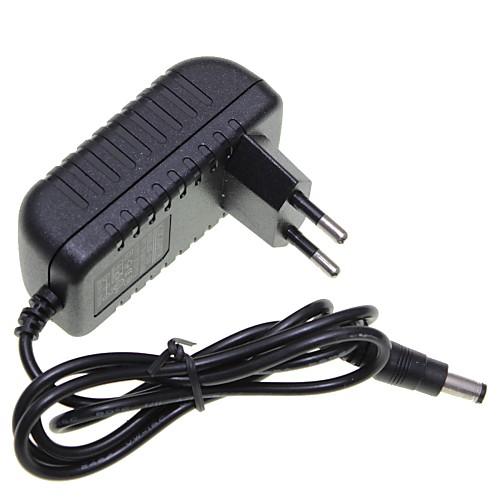 ес вилка 12v 1a 5,5 х 2,1 мм свет водить прокладки / камеры видеонаблюдения монитор безопасности адаптер питания dc2.1 AC100-240V
