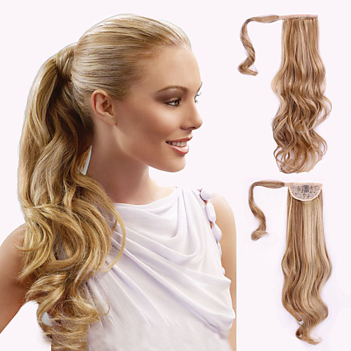 top grade quality synthetic wavy ponytail