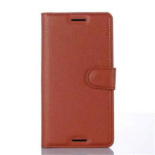 Кейс для Назначение Sony / Sony Xperia X / Sony Xperia XA Xperia XA / Xperia X / Кейс для Sony Кошелек / Бумажник для карт / со стендом Чехол Однотонный Твердый Кожа PU для Sony Xperia XA / Sony фото