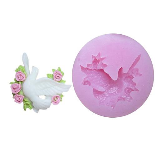 Один Отверстия Pigeon силиконовые формы Фондант Пресс-формы Сахар Craft Инструменты Смола цветы Плесень пресс-формы для тортов