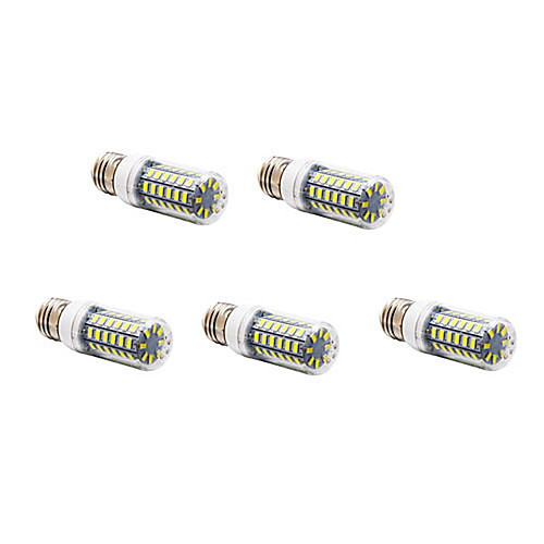 12W E26/E27 LED лампы типа Корн T 56 SMD 5730 1200 lm Тёплый белый / Холодный белый AC 220-240 V 5 шт.