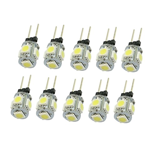 SENCART 10 шт. 1,5 Вт 90-120 lm G4 Точечное LED освещение T 5 светодиоды SMD 5050 Декоративная Тёплый белый Холодный белый Естественный