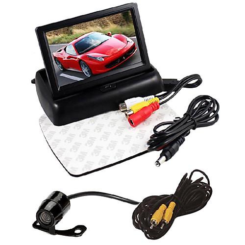 4,3 ЖК-дисплей складная монитор комплект автомобильная камера заднего вида HD кабель питания монитор компьютер 1 8м