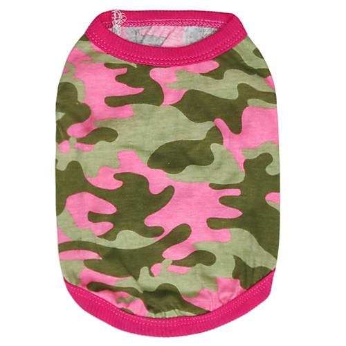 Кошка Собака Футболка Одежда для собак камуфляж Розовый Зеленый Хлопок Костюм Для домашних животных Муж. Жен. Мода куртка синяя 23 разм l