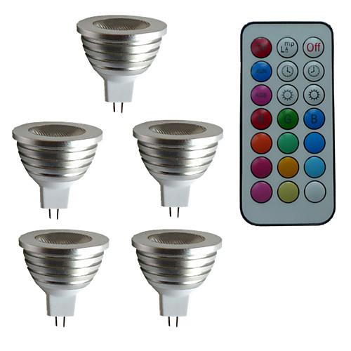 3 Вт. 300 lm GU5.3(MR16) Точечное LED освещение MR16 1 светодиоды Высокомощный LED Диммируемая Декоративная На пульте управления RGB AC