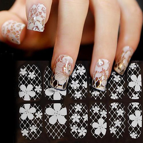 Изысканный и современный / Мода Наклейка для ногтей Дизайн ногтей Водонепроницаемый Повседневные