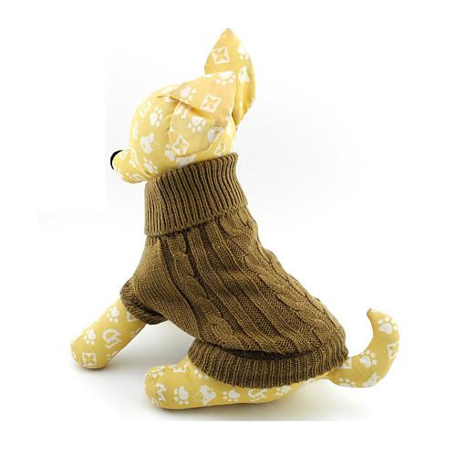 Кошка Собака Свитера Одежда для собак Однотонный Коричневый Сукно Костюм Для домашних животных Муж. Жен. petmax жилет коричневый с орнаментом s