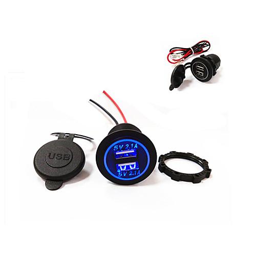 Купить со скидкой lossmann новый! двойной USB автомобильное зарядное устройство 5v 4.2a новый дизайн! водонепроницаемы